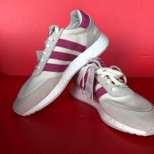 Adidas Originals pink and sand colored sneakers